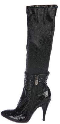 Rocco P. Patent Knee-High Boots