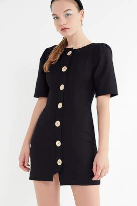Finders Keepers Pompeii Button-Front Mini Dress