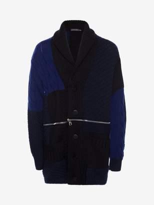 Alexander McQueen Punk Patchwork Knitted Cardigan