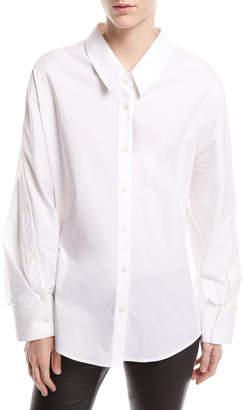 Palmer Harding Palmer//Harding Mom Button-Front Long-Sleeve Poplin Shirt