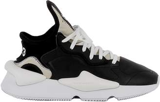 Y-3 Y 3 Black/white Leather/fabric Sneakers