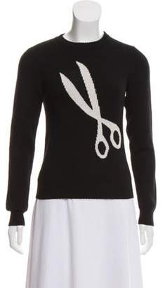J.W.Anderson Scissor Intarsia Merino Wool Sweater Black Scissor Intarsia Merino Wool Sweater
