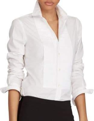 Polo Ralph Lauren Cotton Broadcloth Tuxedo Shirt