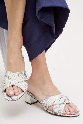 Elia B Leah Snake-Effect Sandals