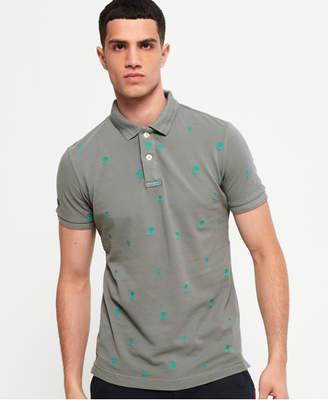 Superdry Classic Bermuda All Over Print Pique Polo Shirt