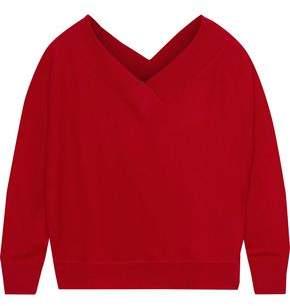 Iris & Ink Meena Off-The-Shoulder Cashmere Sweater