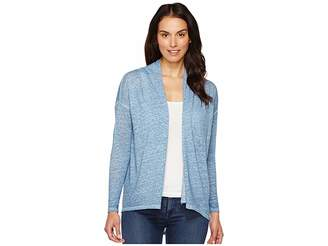 Vince Camuto Long Sleeve Pigment Dye Drape Front Cardigan Women's Sweater