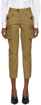 DSQUARED2 Khaki Multi-Pocket Trousers