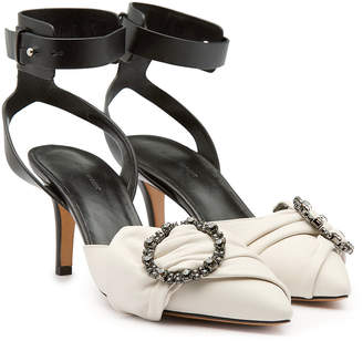 Isabel Marant Pavona Leather Pumps with Crystals