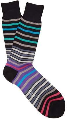 Paul Smith - Striped Cotton Blend Socks - Mens - Black