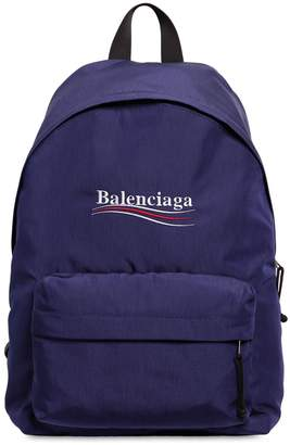 Balenciaga Political Logo Nylon Backpack