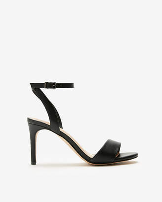 Express Asymmetrical Strap Heeled Sandals