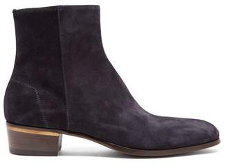 Dunhill Duke Suede Chelsea Boots - Mens - Dark Blue