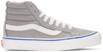 Vans Grey OG Sk8-Hi LX Sneakers $70 thestylecure.com