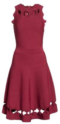Ted Baker Cherina Bow Detail Fit & Flare Knit Dress