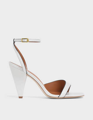 Charles & Keith Asymmetric Strap Cone Heel Sandals