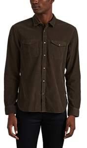 John Varvatos Men's Cotton Corduroy Shirt - Olive