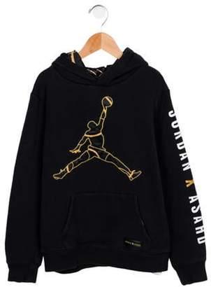 Jordan x Asahd Boy's Logo Sweatshirt black x Asahd Boy's Logo Sweatshirt