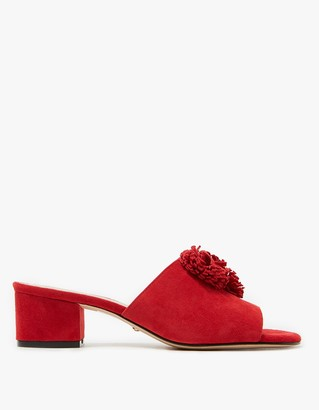 Chrissy Mule in Ruby $185 thestylecure.com