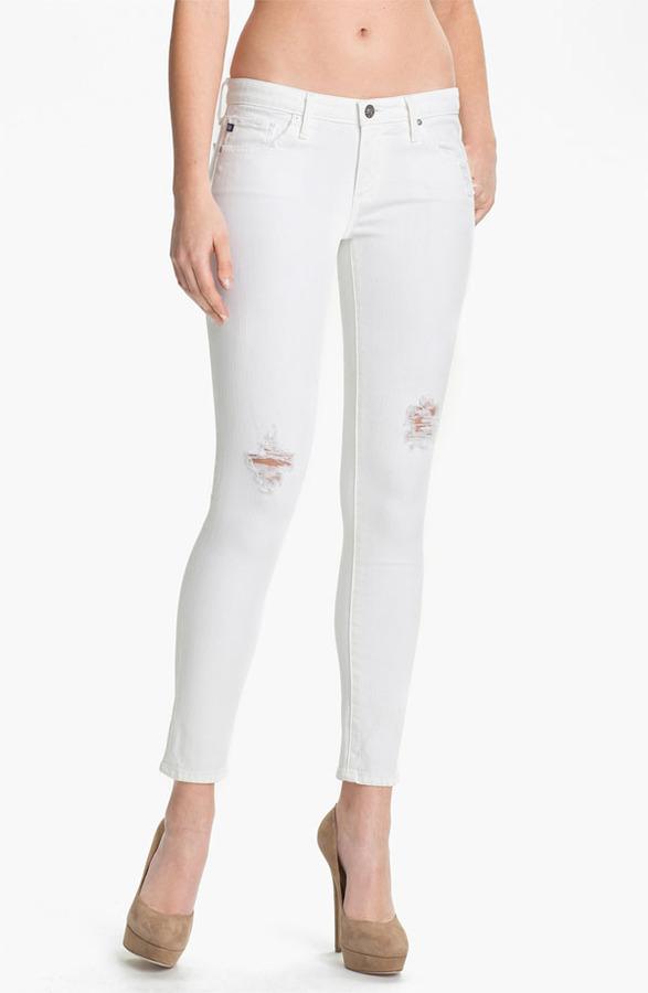 AG Jeans Skinny Ankle Jeans (White Thrasher)
