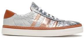 M Missoni Metallic Leather Sneakers