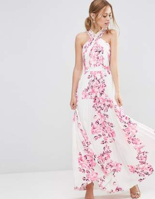 ASOS Cross Over Floral Pleated Maxi Dress $103 thestylecure.com