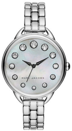 Marc Jacobs Marc Jacobs Betty Mother-Of-Pearl, Crystal & Stainless Steel Watch