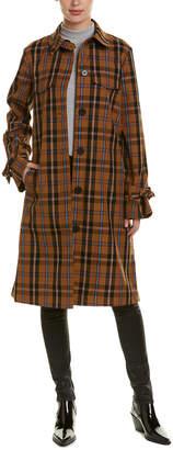 Derek Lam 10 Crosby Plaid Coat