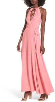 Women's Privacy Please Cambio Wrap Maxi Dress $228 thestylecure.com