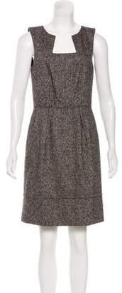 Oscar de la Renta Camel Hair-Blend Mini Dress