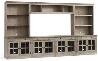 Pottery Barn Livingston Large Media Suite with Glass Doors