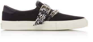 Amiri Embellished Suede Sneakers