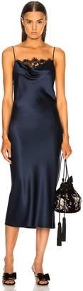 Fleur Du Mal Lace Cowl Neck Slip Dress