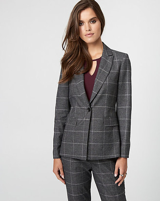 Le Château Glen Check Viscose Blend Blazer
