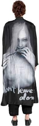 Yohji Yamamoto Don't Leave Me Alone Printed Silk Coat