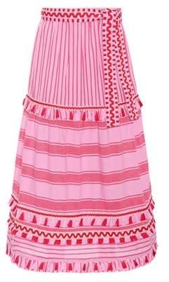Dodo Bar Or Embroidered cotton maxi skirt