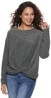 Mudd Juniors' French Terry Twist Front Sweatshirt