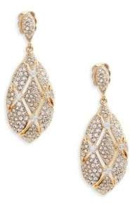 Adriana Orsini Goldtone Crystal Oval Drop Earrings