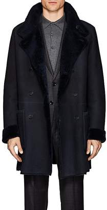 Giorgio Armani Men's Reversible Shearling Long Peacoat