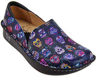 Alegria Leather Printed Slip-on Shoes- Debra Pro