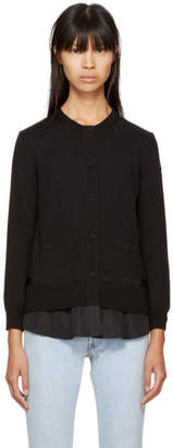 Moncler Black Twist Knit Cardigan