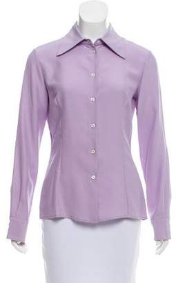 Michael Kors Silk Button-Up Top