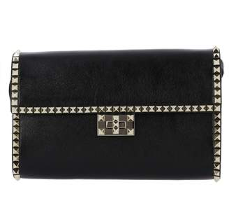 Valentino GARAVANI Crossbody Bags Rockstud No Limit Handbag In Genuine Leather With Metal Studs