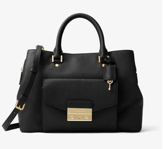 MICHAEL Michael Kors Haley Leather Satchel