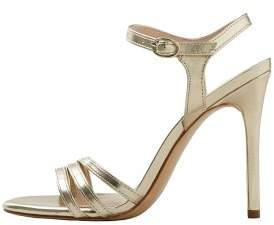 MANGO Metallic ankle-cuff sandals