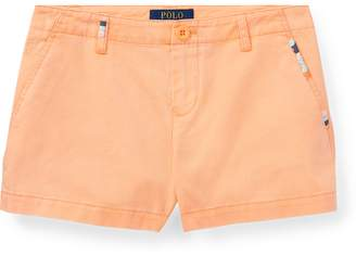 Ralph Lauren Embroidered Cotton Chino Short