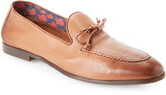 Doucal's Brown Nappa Leather Loafers