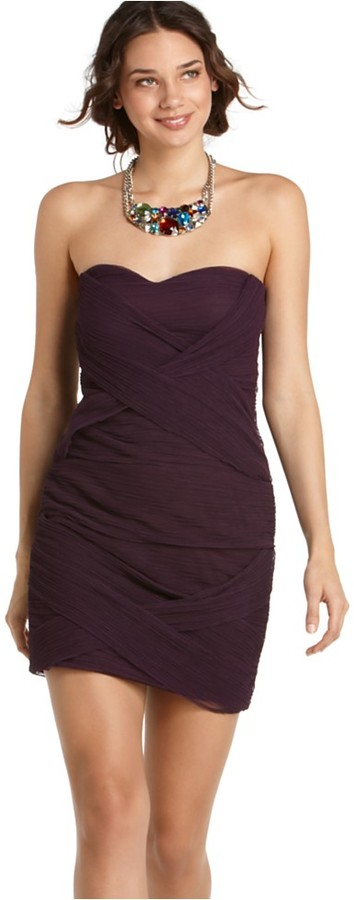 As U Wish Dress, Sleeveless Bandage Strapless Fitted Mini
