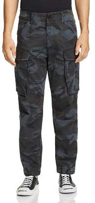 G Star Rovic 3D Straight Tapered Camouflage-Print Cargo Pants
