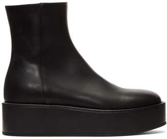 Ann Demeulemeester Black Vitello Olio Nero Boots